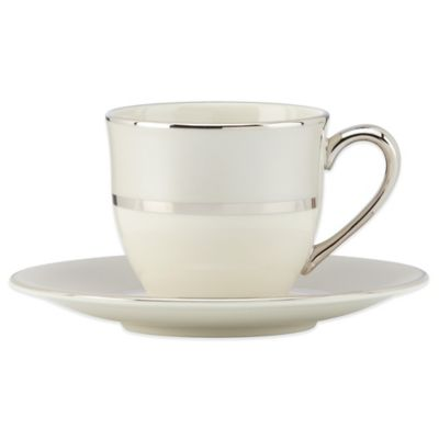 Lenox® Ivory Frost™ Demitasse Cup and Saucer