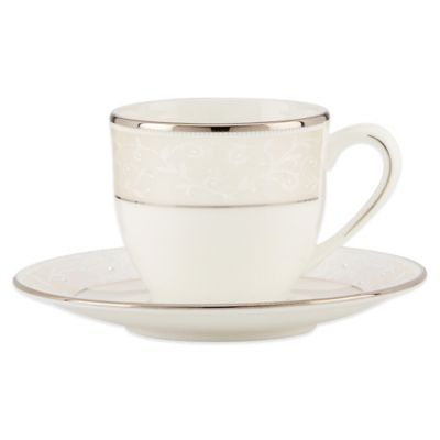 Lenox® Pearl Innocence™ Demitasse Cup and Saucer in White
