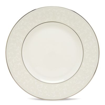 Lenox® Opal Innocence™ Dinner Plate in White/Platinum