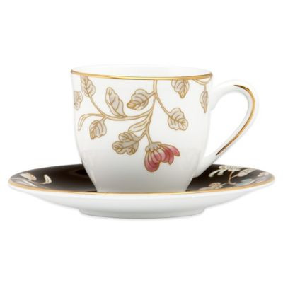 Marchesa by Lenox® Painted Camellia Demitasse Cup and Saucer Set