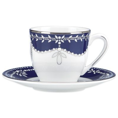 Marchesa by Lenox® Empire Pearl Indigo Demitasse Cup and Saucer Set