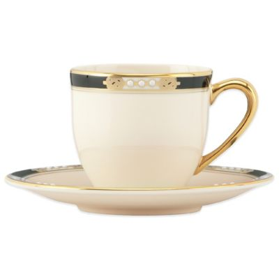 Lenox® Hancock® Platinum White Demitasse Cup and Saucer