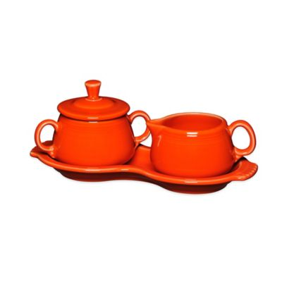 Fiesta® Sugar and Creamer Set with Tray in Poppy