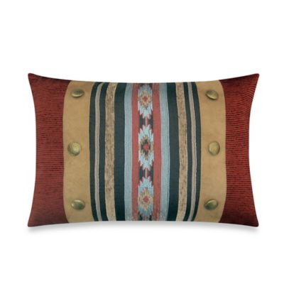 Veratex Santa Fe Buttons Oblong Throw Pillow