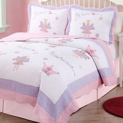 Fairy Princess Garden Twin Quilt Set
