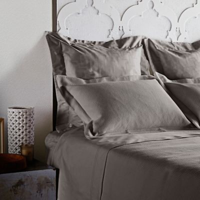 Frette At Home Creta Queen Coverlet in Stone