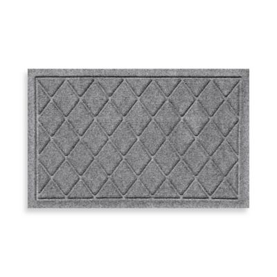 Weather Guard™ 18-Inch x 28-Inch Argyle Door Mat in Red/Black