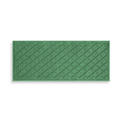 Weather Guard™ 22-Inch x 60-Inch Argyle Door Mat in Light Green