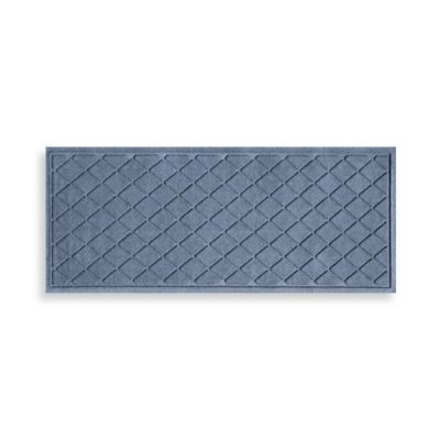 Weather Guard™ 22-Inch x 60-Inch Argyle Door Mat in Medium Blue