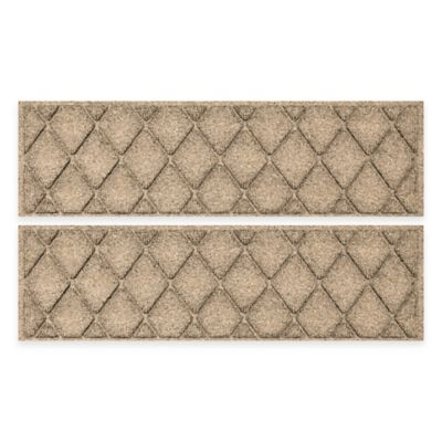 Weather Guard™ 2-Pack Argyle Stair Tread in Camel