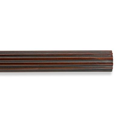 Cambria® Premier Wood Decorative 6-Foot Fluted Drapery Pole in Cherry