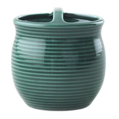 Green Ceramic Toothbrush Holder