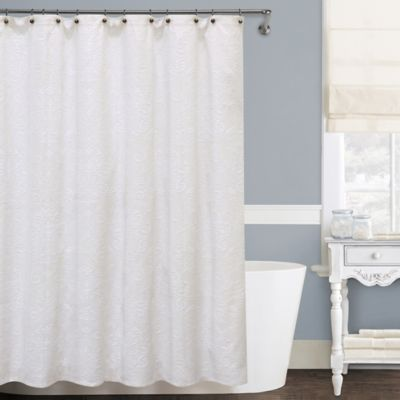Isabella Matelassé 72-Inch x 96-Inch Shower Curtain