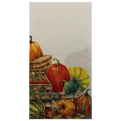 Pumpkin 16-Count Paper Guest Towels
