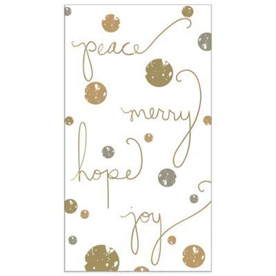 Peace Love Joy 16-Count Paper Guest Towels