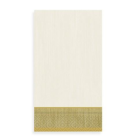 Gold border 15 count paper guest towels bed bath beyond for Bathroom border paper