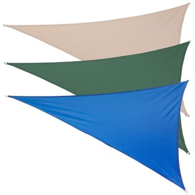 Coolaroo® Coolhaven 12-Foot Triangle Shade Sail with Fixing Kit in Sapphire