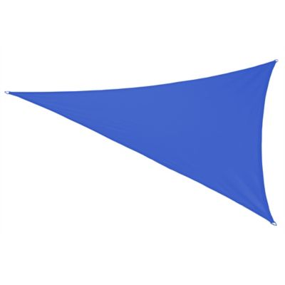 Coolaroo® Coolhaven 18-Foot Triangle Shade Sail with Fixing Kit in Sapphire