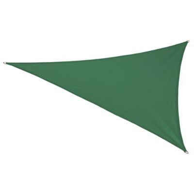 Coolaroo® Coolhaven 18-Foot Triangle Shade Sail with Fixing Kit in Heritage Green