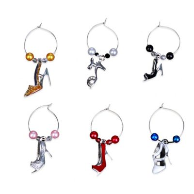 Shoe Wine Charms (Set of 6)