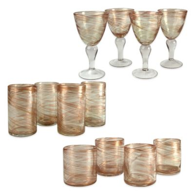 Artland Shimmer Drinkware in Clear (Set of 12)