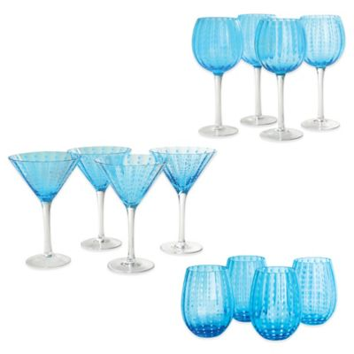 Artland Cambria Drinkware in Turquoise (Set of 12)