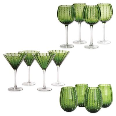 Artland Cambria Drinkware in Sage (Set of 12)