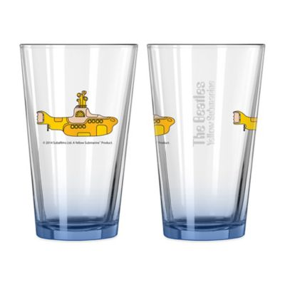 The Beatles Yellow Submarine Elite Pint Glasses (Set of 2)