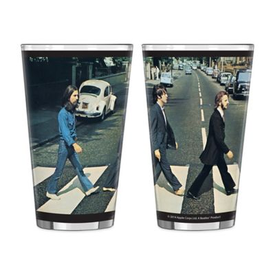 The Beatles Abbey Road Wrap Pint Glasses (Set of 2)