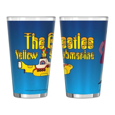 The Beatles Yellow Submarine Wrap Pint Glasses (Set of 2)