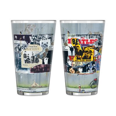The Beatles Anthology Wrap Pint Glasses (Set of 2)