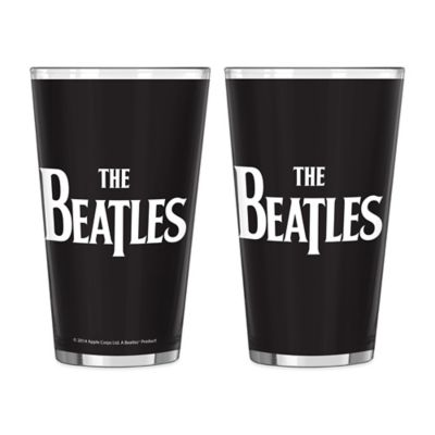 The Beatles Logo Pint Glasses (Set of 2)