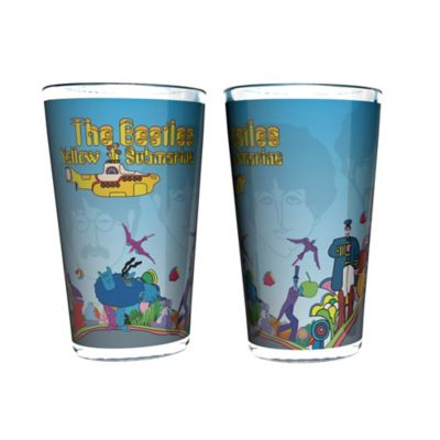 The Beatles Half-Tone Yellow Submarine Pint Glasses (Set of 2)