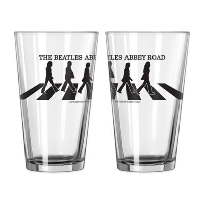 The Beatles Abbey Road Pint Glasses (Set of 2)