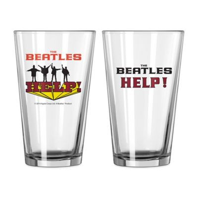 The Beatles Help! Pint Glasses (Set of 2)