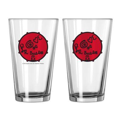 The Beatles Love Pint Glasses (Set of 2)