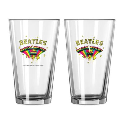 The Beatles Magical Mystery Tour Pint Glasses (Set of 2)