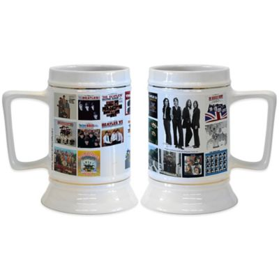The Beatles Albums 28 oz. Ceramic Stein (Set of 2)