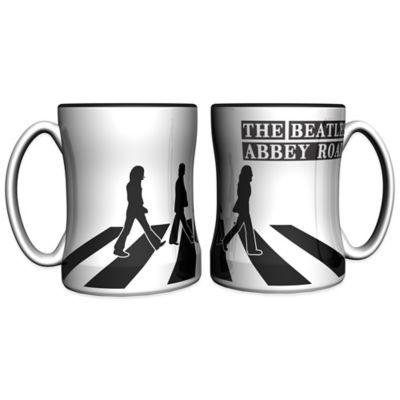 The Beatles Abbey Road 14 oz. Relief Coffee Mugs (Set of 2)