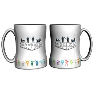 The Beatles Help! 14 oz. Relief Coffee Mugs (Set of 2)