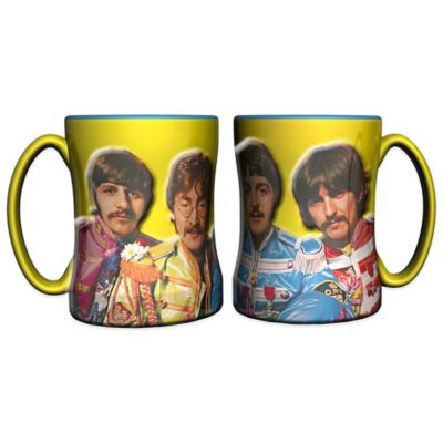 The Beatles Sgt. Pepper's Lonely Hearts Club Band 14 oz. Relief Coffee Mugs (Set of 2)
