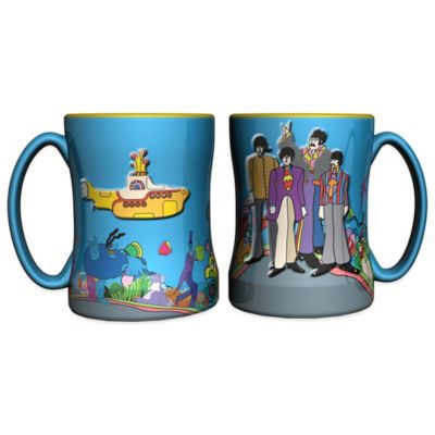 The Beatles Yellow Submarine 14 oz. Relief Coffee Mugs (Set of 2)