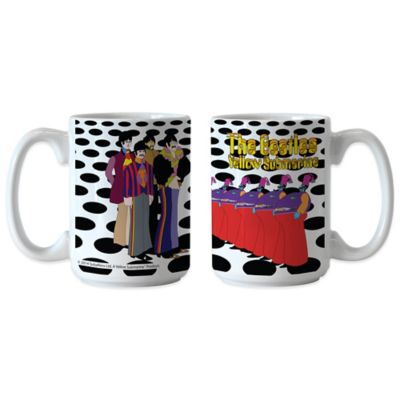 The Beatles Yellow Submarine Holes 15 oz. Coffee Mugs (Set of 2)