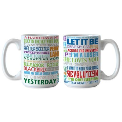 The Beatles Greatest Hits 15 oz. Coffee Mugs (Set of 2)