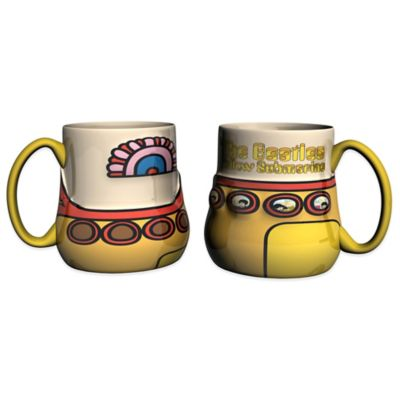 Yellow Submarine 15 Oz. Sculpted Coffee Mugs