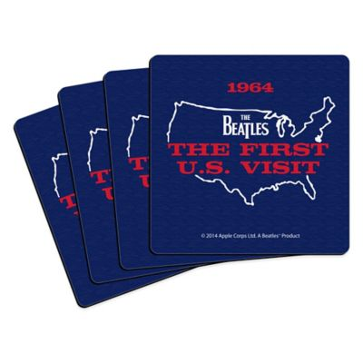 The Beatles U.S. Visit Map Coasters (Set of 4)