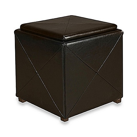 Mariolla Faux Leather Storage Cube