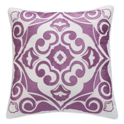 Boheme Embroidered Square Throw Pillow