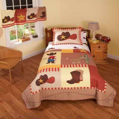 Cowboy Full/Queen Quilt Set