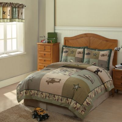 Alpha Bravo Charlie Twin Quilt Set
